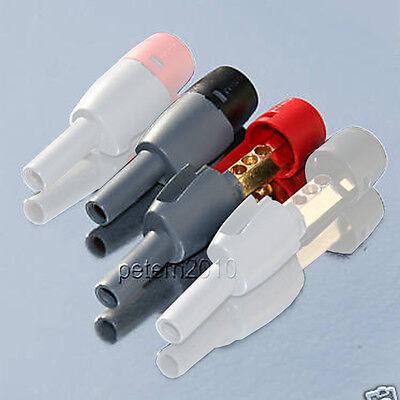 2 DELTRON BFA AMP SPEAKER PLUGS for Arcam Linn Cyrus Amplifiers (ONE PAIR)