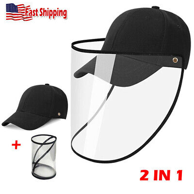 Face Protection Hat Clear Dust Proof Full Cover Shield Anti Saliva Fog Cap PVC