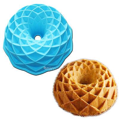 Jubilee Bundt Cake Pan Round Bread Gelatin Jello Baking Silicone Mold 8.3inch ()