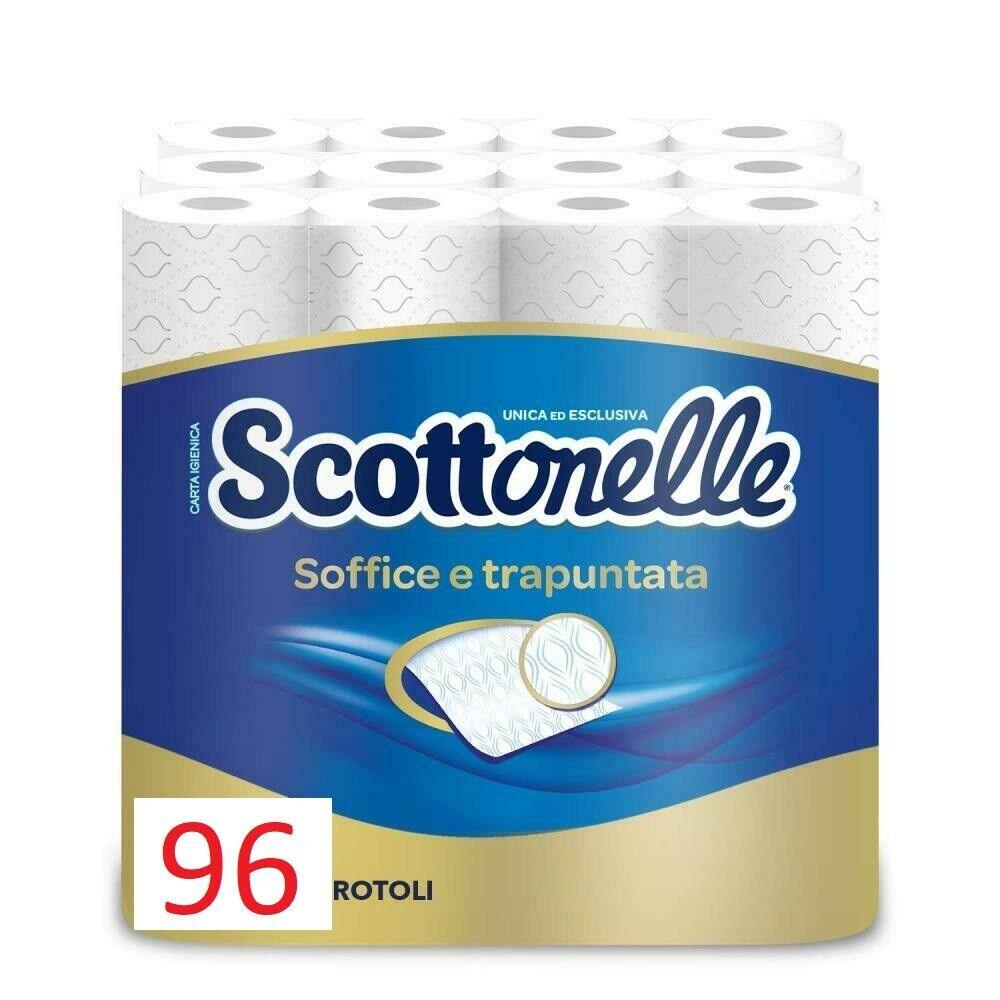 Sconto Detersivi & Prodotti per la Pulizia eBay.it Scottonelle Carta Igienica Soffice E Trapuntata, Confezione Da 96 Rotoli