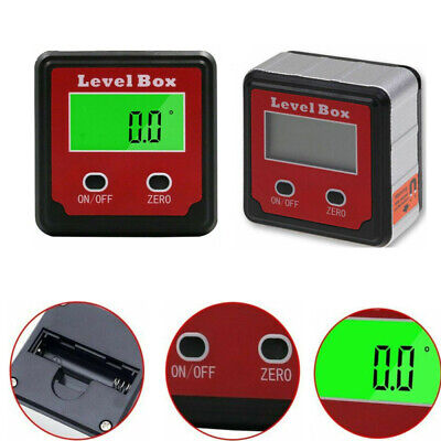 Digital Lcd Inclinometer Level Box Protractor Gauge Angle Finder Display Tool