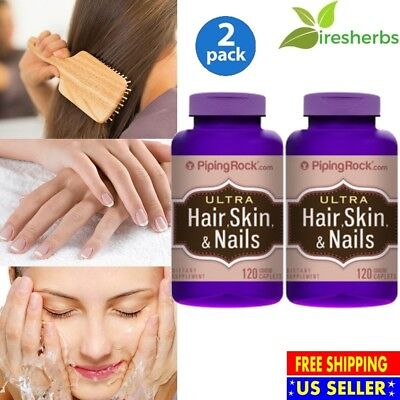 #1 BEST ULTRA HAIR, SKIN & NAILS MULTIVITAMIN PILL SUPPLEMENT 240 COATED (Best Hair Skin And Nails Pills)