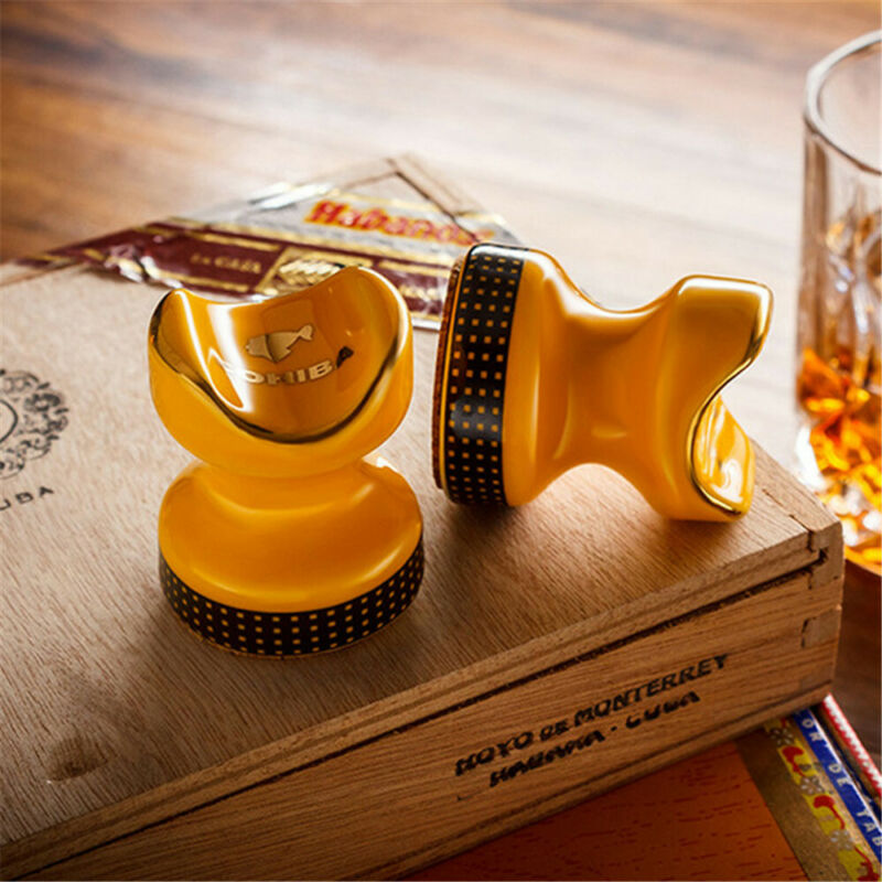 1PC Cohiba Cigar Holder ceramic Portable Cigar Rack Rest Table Ashtray Pocket