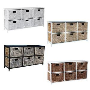 Wicker Basket Storage Units