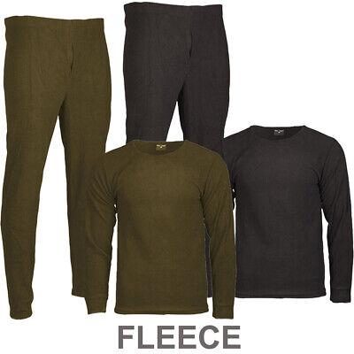 Thermo-Unterwäsche Fleece XS - 3XL Rundkragen Winter Unter-Hose Anzug Shirt SALE (Unter Fleece-hose)