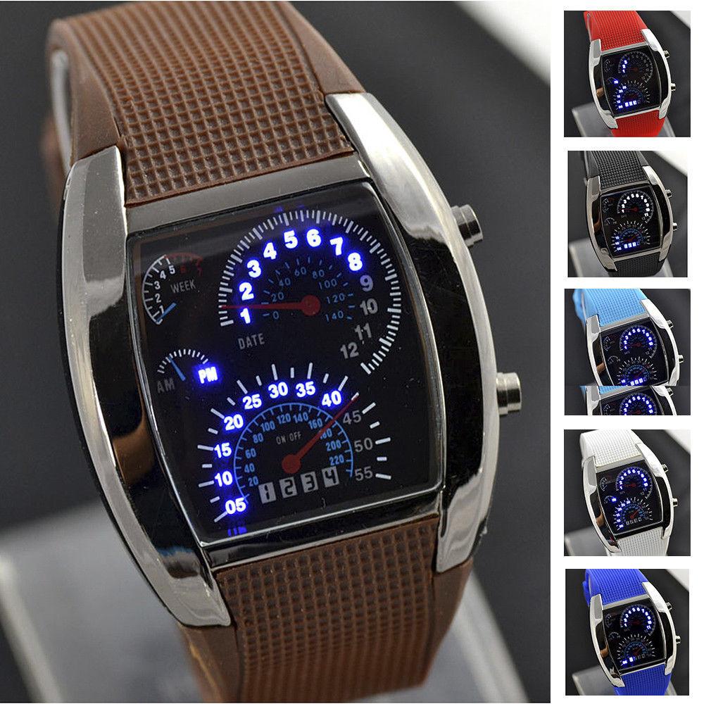 ASAMO Herren Damen Digital LED Armbanduhr mit Silikon Armband Sport Uhr