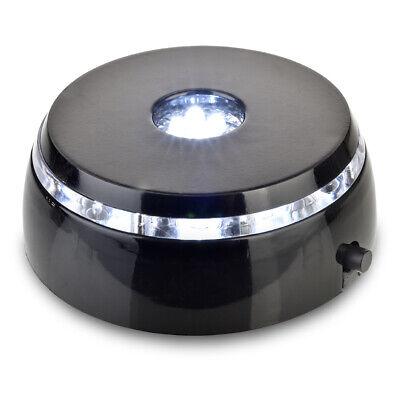 Santa Cruz Lights 4 LED Round White Light Stand Base for Crystals/Glass Art … - Led Lights For Glasses