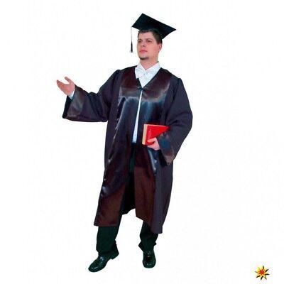 Talar schwarz Umhang lang Richter Robe Pastor Priester - Schwarze Richter Robe Kostüm