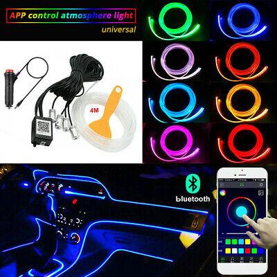 RGB LED Car Interior Decor Atmosphere Light Strip Wire Footwell Lamp Optic Fiber