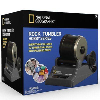 National Geographic Hobby Rock Tumbler Kit Create Gemstone Ring Keychain Jewlery