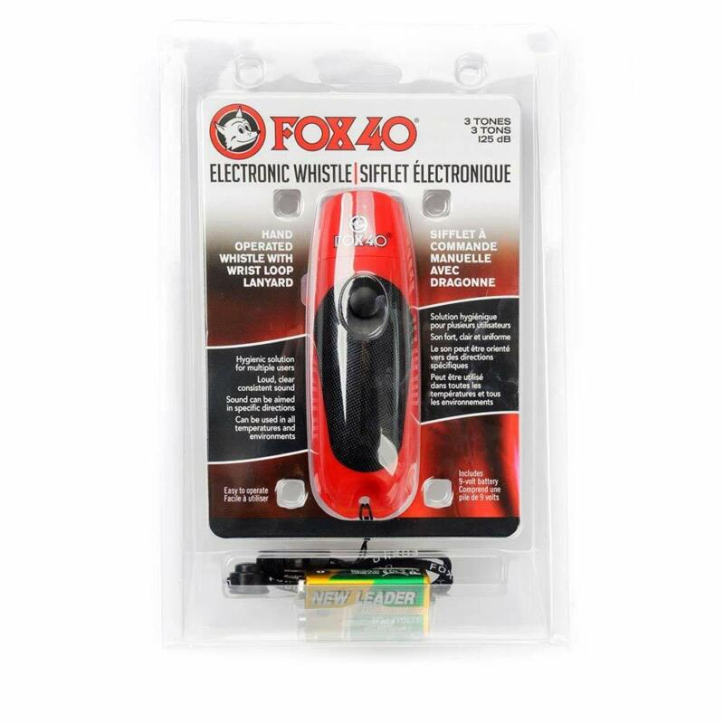 Fox 40 3 Tone Electronic Whistle 125 dB 9 Volts Red 8616-1908