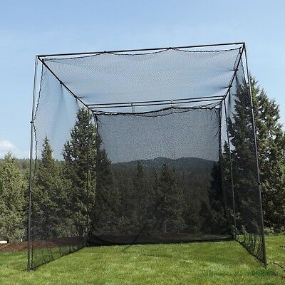 10' X 10' X 10' Golf Cage Net + Golf Netting Impact Panel, NEW! (without frame)