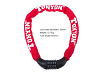 5-digit Resettable Combination Lock Bike Security Chain