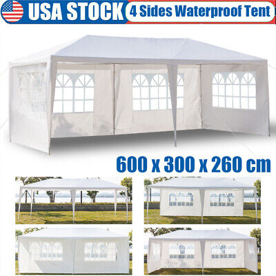 10'x20' Outdoor Canopy Tent Garden Gazebo Party Wedding Event Shelter 4 Sidewall
