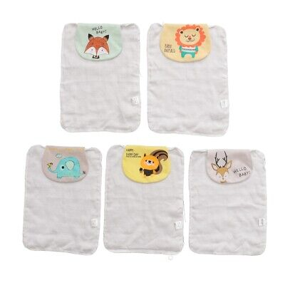 5pcs Baby Back Towel Baby Towel Sweat Absorbent Towel for Kid Newborn