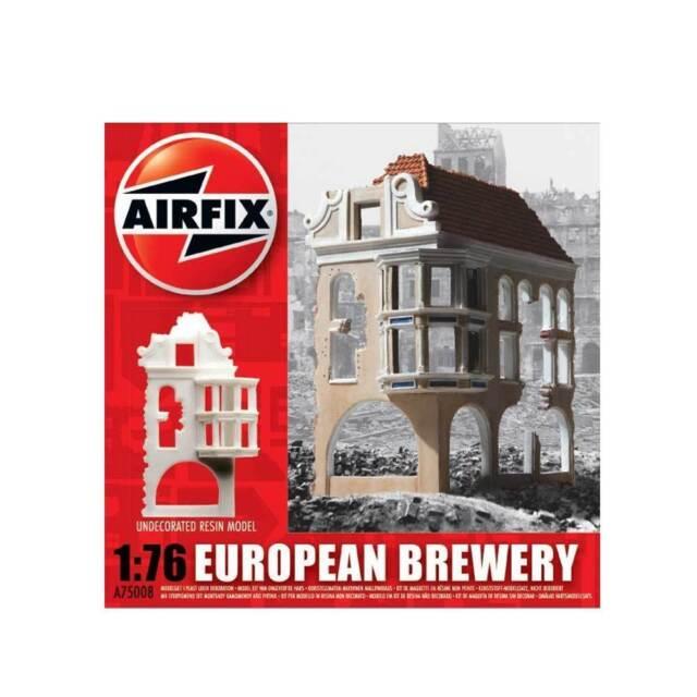 A75008 Airfix Plastic Unpainted Model Kit 1:76 European German Ruin Brewery New