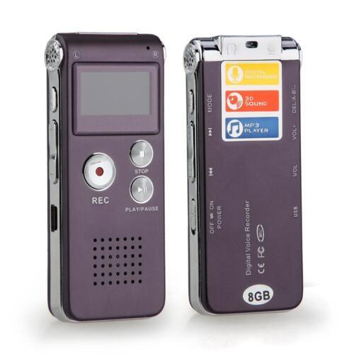 8GB Digital Voice Audio Sound Telephone Recorder Dictaphone MP3 Player USB-Stick