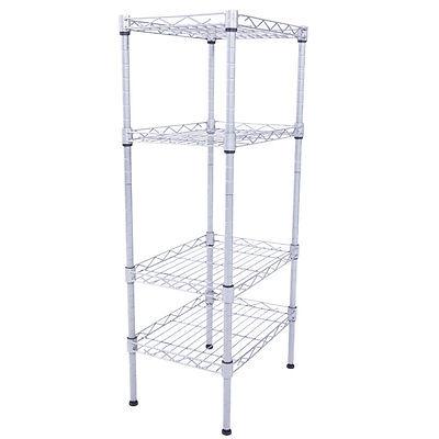 4 Tier 32x14x10 Wire Shelving Rack Shelf Adjustable Unit Garage Kitchen Storage