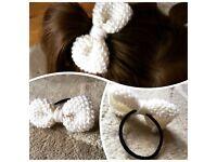 Hand made hair band bows.