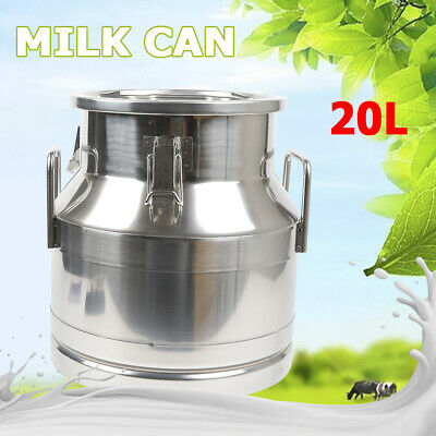 20 Liter Stainless Steel Milk Can Wine Pail Bucket Tote Jug 1 Mm Thickness Usa