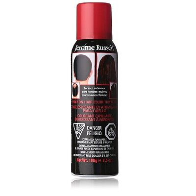 Jerome Russell Spray-On Color Black Hair Thickener 3.5 Ounce