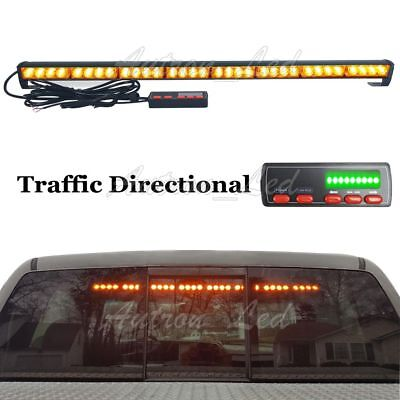 35 Inch 32w Led Amber Flash Traffic Adviser Directional Arrow Strobe Light Bar