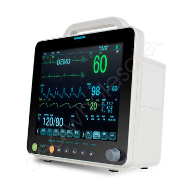 Portable Medical Patient Monitor Multiparameter Patient Monitor Pr Spo2 Ecg Nibp
