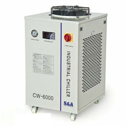 Gently Used S&A CW-6000 Industrial Water Chiller for 100W Solid-state Laser/22KW
