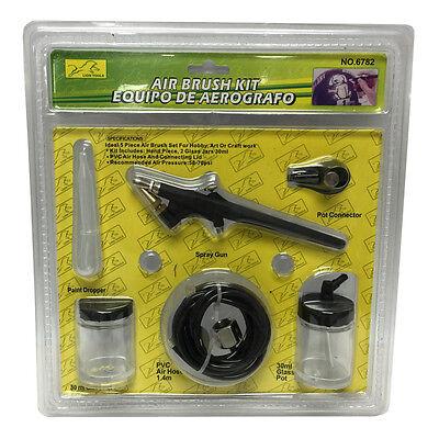 AIR BRUSH KIT Hose Paint Jar/Cans Airbrush Spray Gun Tanning Tattoo  NEW