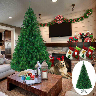6Ft Artificial PVC Christmas Tree Home Decoration Holiday Stand Outdoor US Ship ()