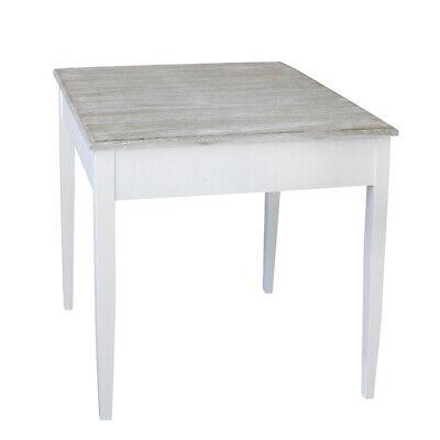Tisch HARBOUR weiß braun kleiner Esstisch Hamptons Chic Long Island Küchentisch