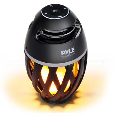 Portable Bluetooth Speaker with Built-in Soft Glowing Candle