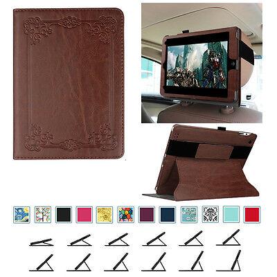 For iPad 4 3 2 Case Multi-Angle Car Headrest Stand Cover Hand Grip Wake / Sleep Ipad 3 Car