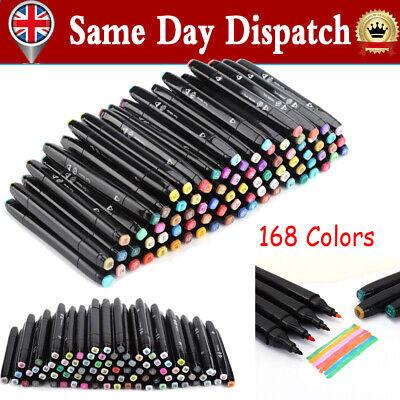 Alcohol Markers Pen Set Touch 6 Generation 168 Colors Pen Dual Tip Draft