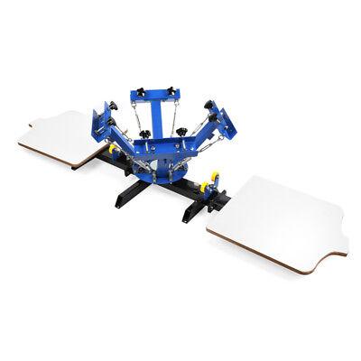 4 Color 2 Station Silk Screen Printing Machine Diy T-shirt Fabric Rotary Print