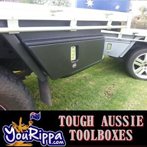 BLACK LEFT HS SPORTS UTE TOOL BOX UNDERBODY POLY TIEDOWNS ROPES 4X4 4WD UTES