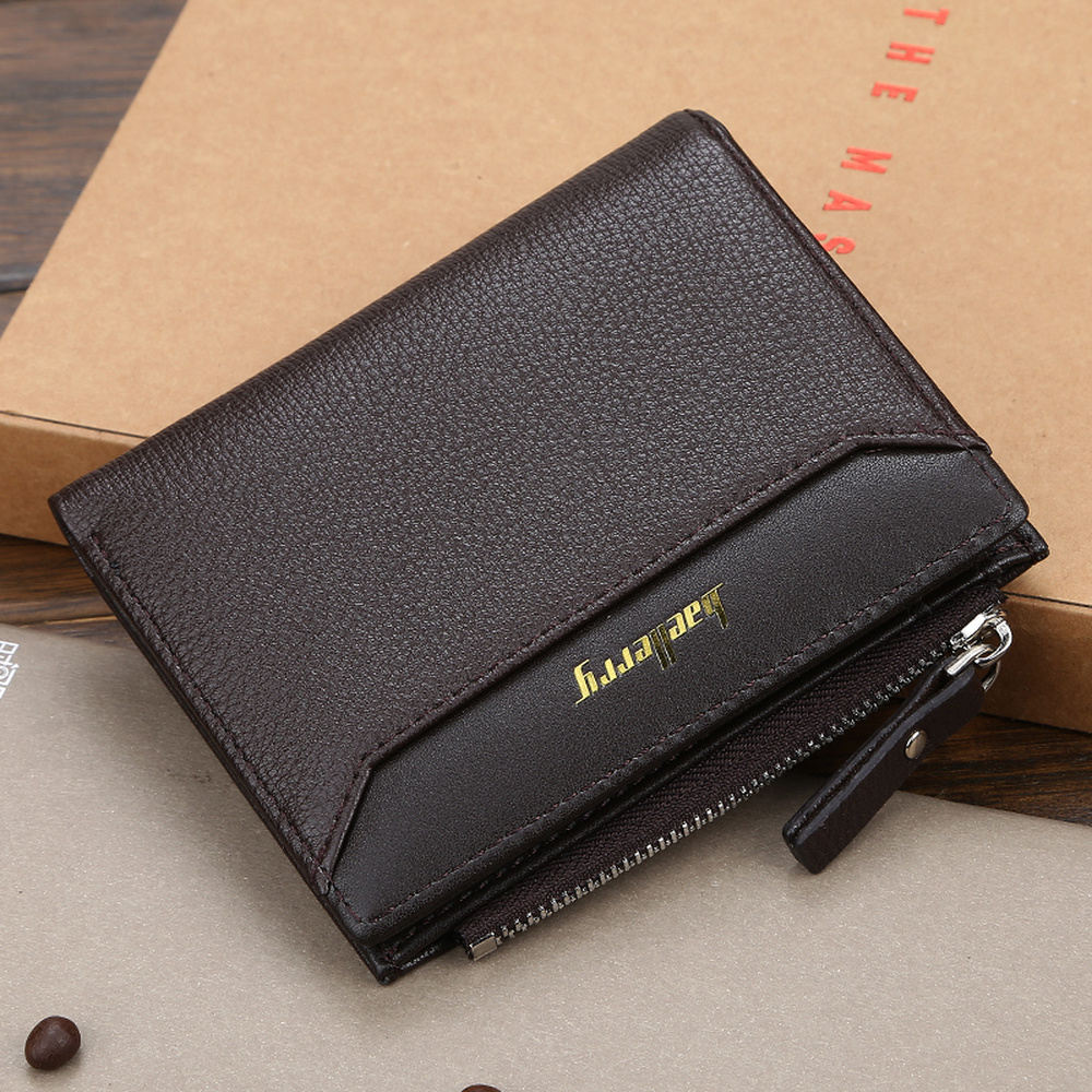 Mens US Dollar Leather Bifold Wallet Cash Card Holder Short Hangbag US Clothing, Shoes & Accessories