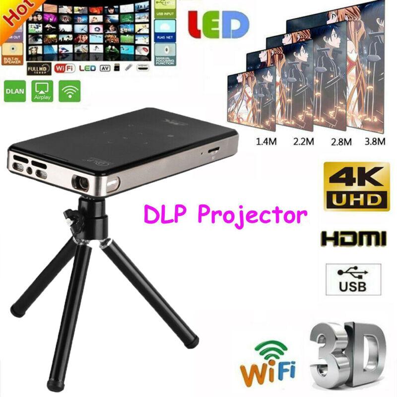 Smart Mini 7000 Lumens 4K Wifi Android DLP Home Theater Projector HD 1080P HDMI