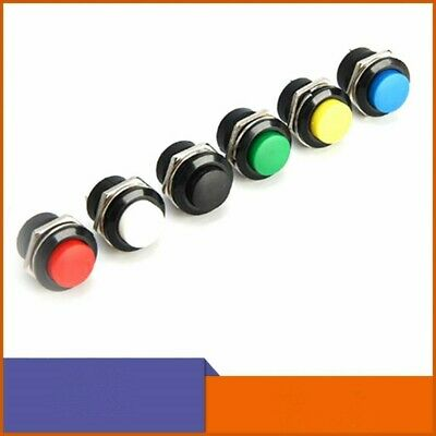 5pcs Horn Switch 16mm Push Button Car Start Momentary 2 Pins Normally Open