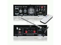 Skytronic AV-360 MP3 USB SD FM Karaoke Home Hifi Stereo Power Amplifier 80W +64GB micro SD card NEW