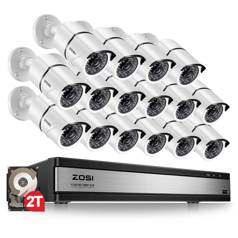 ZOSI 16 Ch Channel 1080p HDMI Surveillance CCTV DVR Security