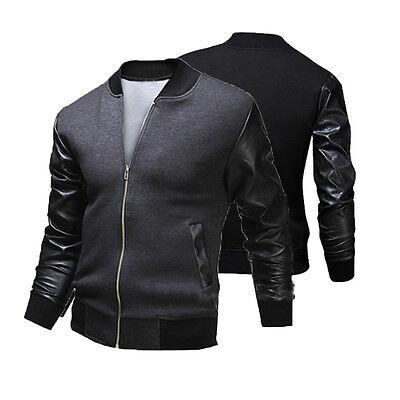 New Mens Fashion Casual Jacket Warm Winter Baseball Coat Slim Outwear Overcoat
