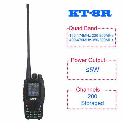 QYT KT-8R Quad Band radio 136-174&400-470MHz color display 5W UV transceiver