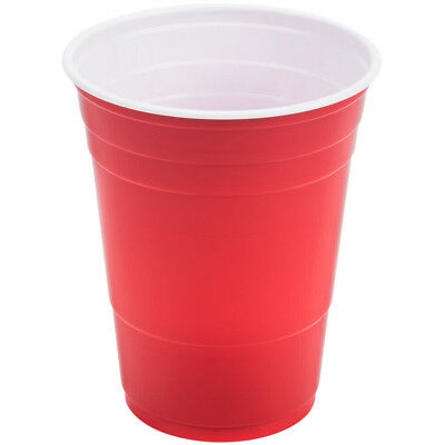 16oz Plastic Red Party Cups (Beer Pong) - Disposable 20/60/120 USA MADE](Color Plastic Cups)