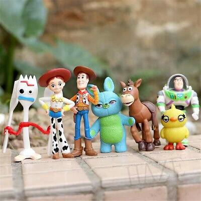7pcs Toy Story 4 Woody Lightyear Rex Alien Bear figura de acción...