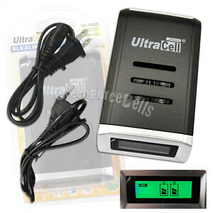AA-AAA-2A-3A-Alkaline-NiMH-NiCd-Quick-Fast-LCD-Display-battery-charger-Ultracell