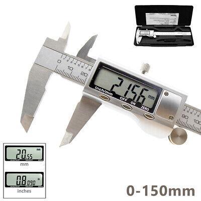 6 Inch Digital Caliper 0-150mm Vernier Micrometer Electronic Ruler Gauge Meter