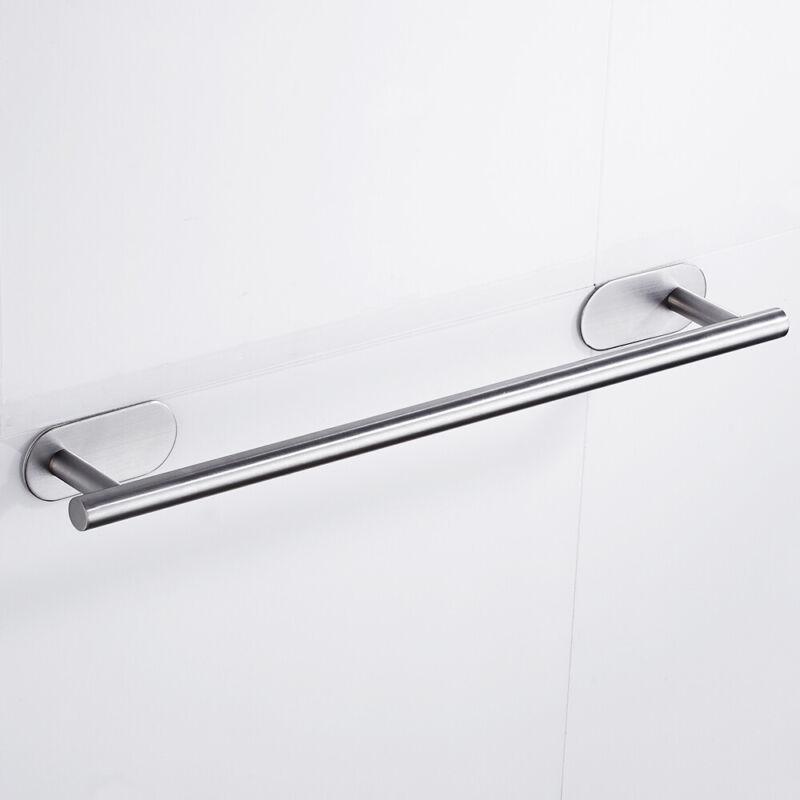 YIGII Handtuchhalter Ohne Bohren Bad Handtuchstange Edelstahl Geb/ürstet Handtuchring Selbstklebend 37cm
