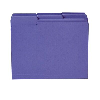 Staples Colored Top-tab File Folders 3 Tab Purple Letter Size 100pack 535559