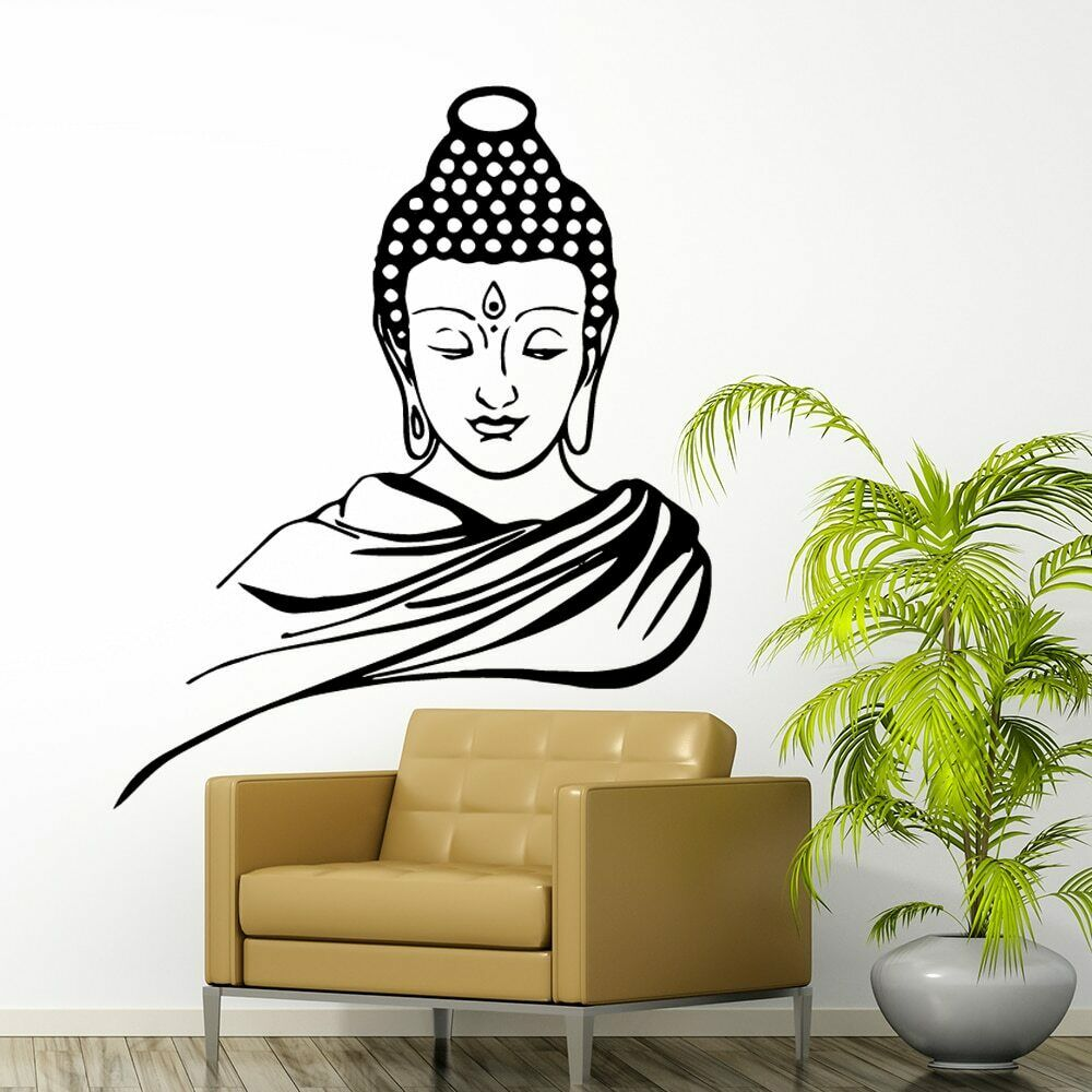 Home Decoration - Buddha Vinyl Wall Sticker Home Decoration Stickers Living Room Bedroom